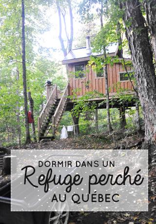 Cabane perchée au Québec au Mont-Tremblant