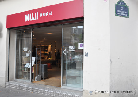 boutique Muji à Paris