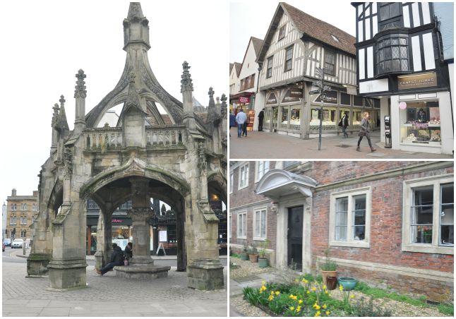Les rues de Salisbury en Angleterre