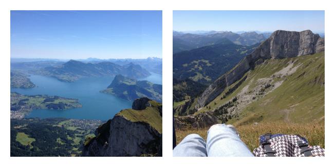 Voyage en Suisse: panorama du Pilatus