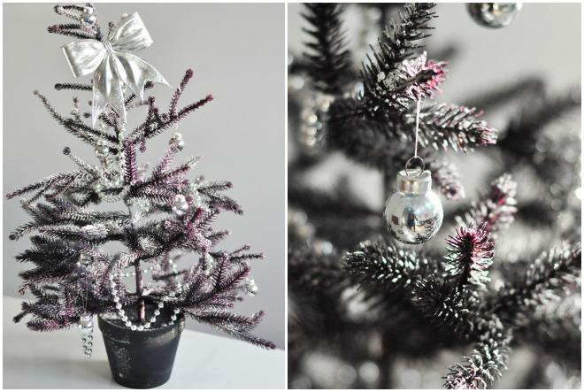 Un sapin de Noël violet