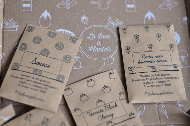 Sachets de graine de la box à planter