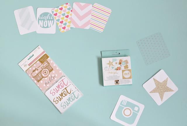 Matériel pour Project Life: kits de cartes pour décorer son album photo