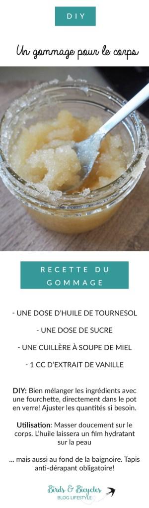Recette DIY de Gommage au sucre pour le corps Sur le blog lifestyle Birds & Bicycles