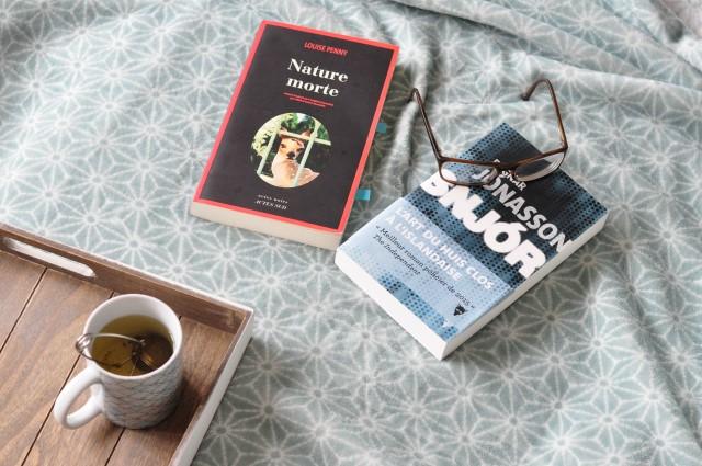 Romans policiers: Snjor de Jonasson et Nature morte de Louise Penny, conseils sur le blog lifestyle & culture Birds and Bicycles