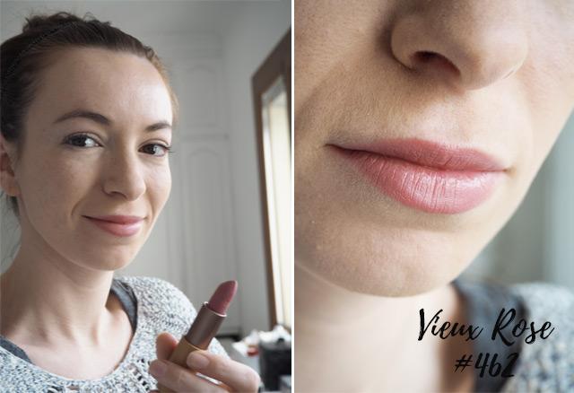 Rouge à lèvres Vieux Rose 462 de Zao MakeUp: avis et swatch