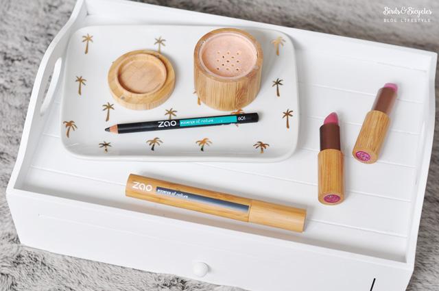 Avis & tests du maquillage bio de la marque de cosmétique naturelle Zao - Rubrique beauté du blog Birds & Bicycles !