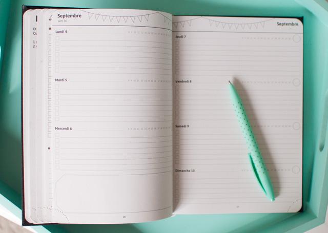 Entre l'agenda et le bullet journal, un super outil pour s'organiser!