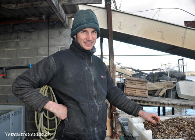 Simon Julien, ostréiculteur à Bouzigues