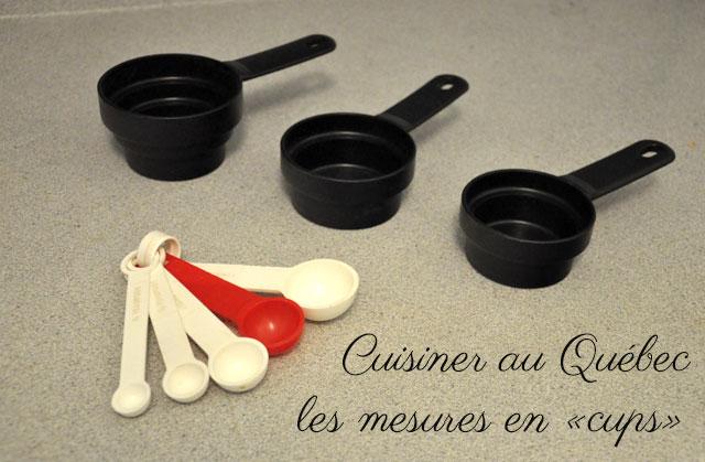 mesures au Québec cuisine cups