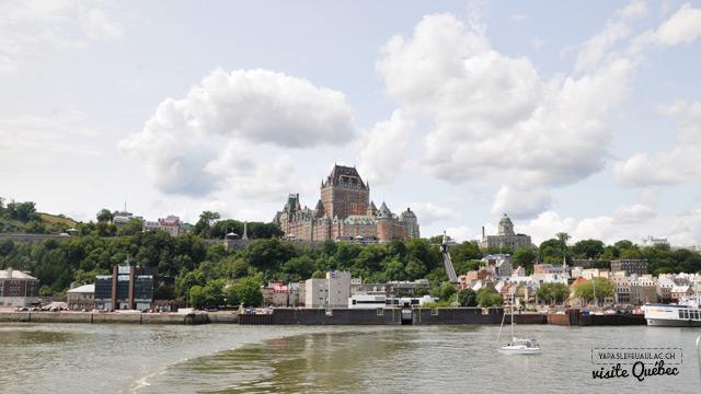 Vue sur Québec depuis le Saint Laurent