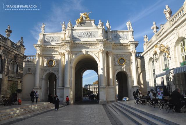 L'Arc de triomphe sur la Place Stanislas