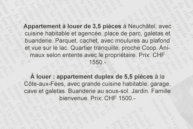 comprendre les annonces immobili res suisses. Black Bedroom Furniture Sets. Home Design Ideas