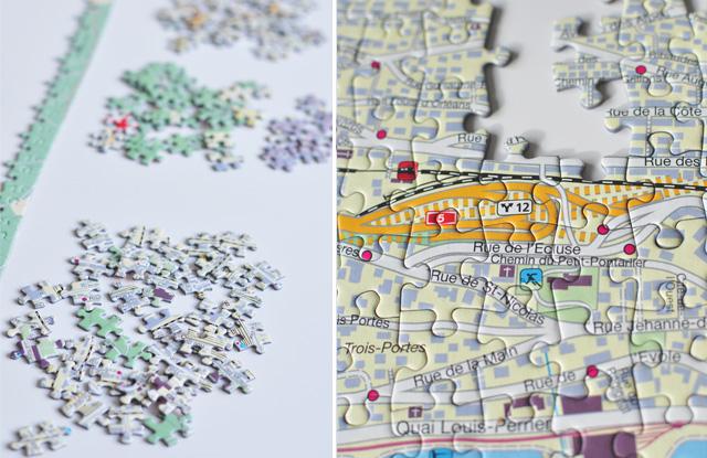 Puzzle de ville suisse basés sur des cartes géographiques des villes
