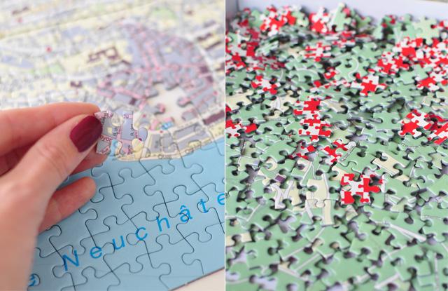 Mon puzzle de ville suisse: Neuchâtel! Par l'éditeur de jeux Helvetiq