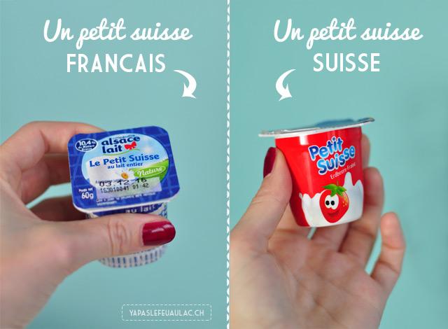 Différences entre la Suisse et la France: le cas du petit suisse!