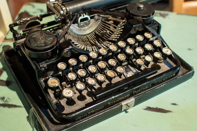 Machine à écrire déco cabane dans les Vosges