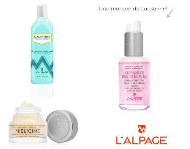 Idée de cadeau suisse: la marque de cosmétiques lausannoise l'Alpage