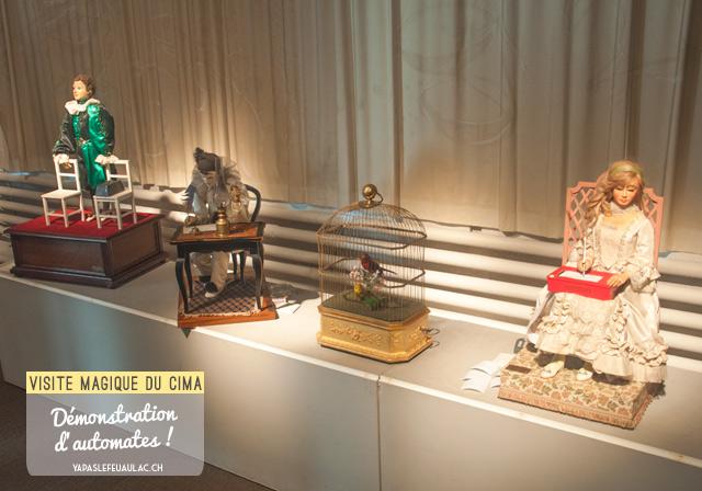 Voir des automates en fonctionnement au musée CIMA en Suisse, un lieu dédié à la mécanique d'art
