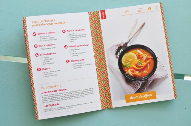 Le livret de recettes de la box de cuisine