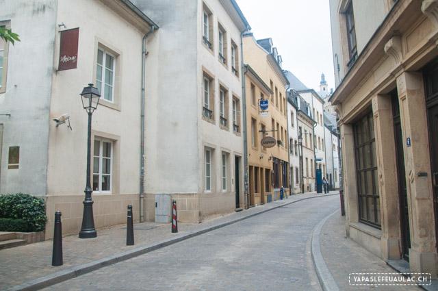 Luxembourg: vue dans le quartier du Grund