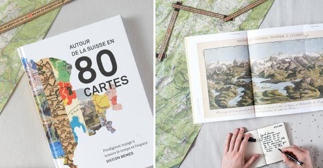 Insolite: Livre suisse de cartes géographiques par Diccon Bewes