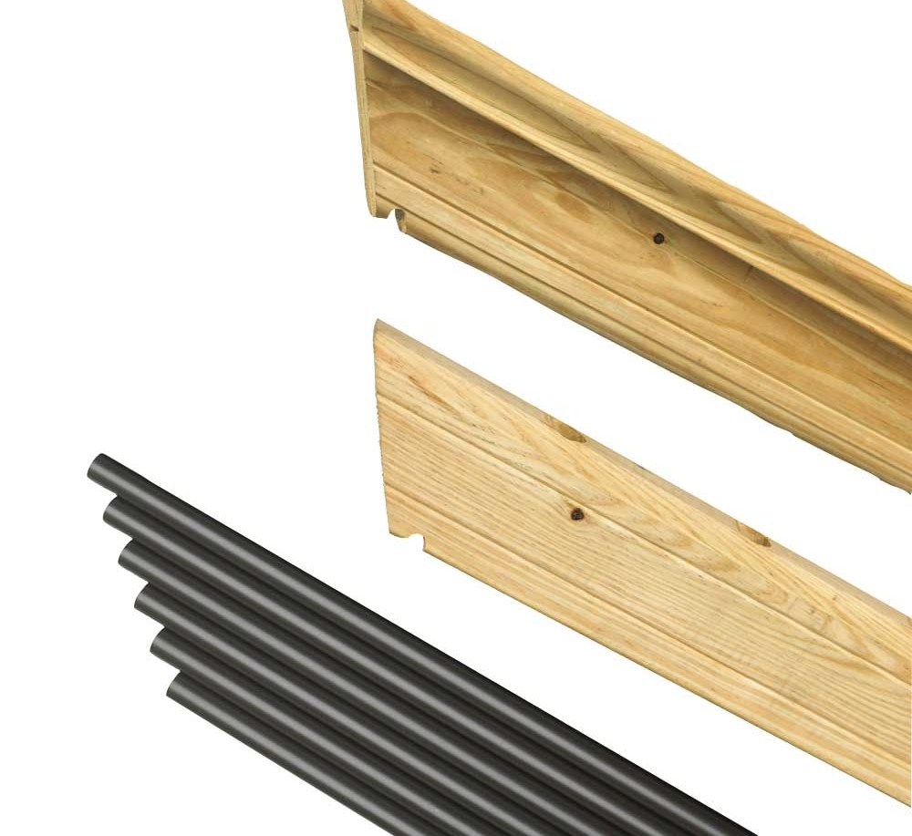 Pressure Treated Wood Outdoor Stair Railing Kit Yard Home | Pressure Treated Stair Railing