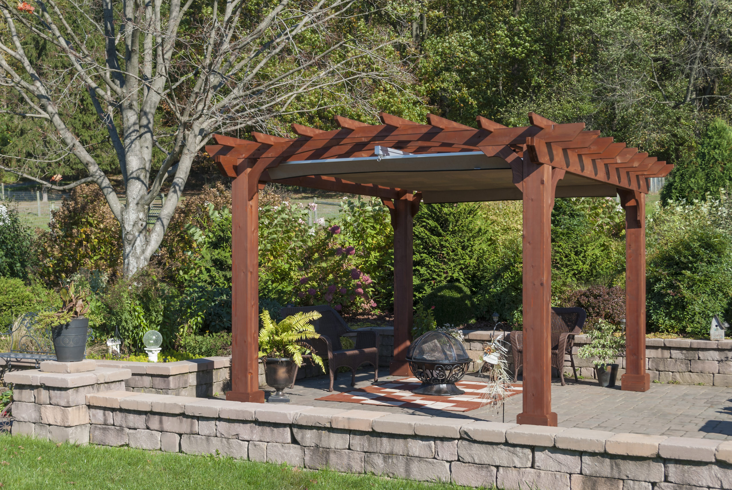 ezshade canopy for 10x12 wood pergola accessory
