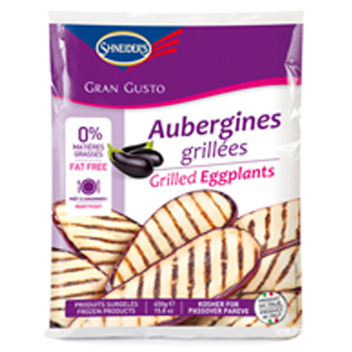 AUBERGINES TRANCHEES FINES GRILLEES