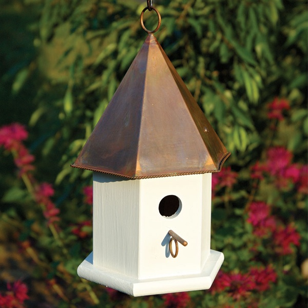 Copper Top Bird Houses Yard Envy