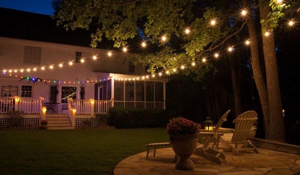 outdoor patio lighting string lights Patio Lights - Yard Envy