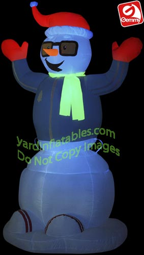 Animated NEON Dancing Snowman