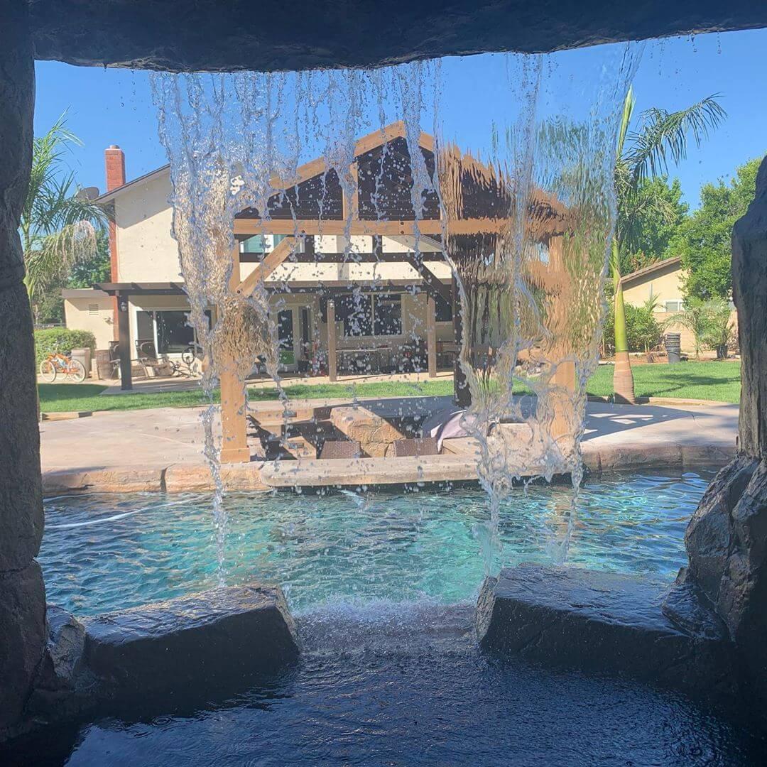 Love My Poolside Pavilion With 2 Bar Counters - Yardistry ... on Yardistry Backyard Pavilion id=27538