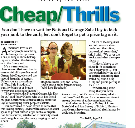 National Garage Sale Day article