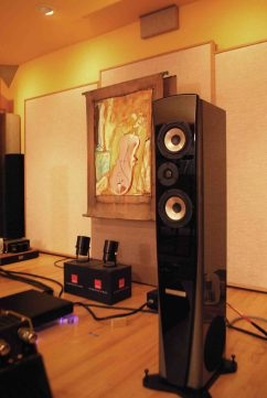 "Genesis 7.2 speakers at Acoustic Image. The sound from Gary Koh's ""family friendly"" audio equipment had everyone smiling"