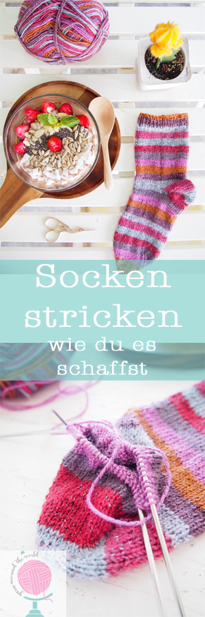 Socken stricken Motivation für Anfänger