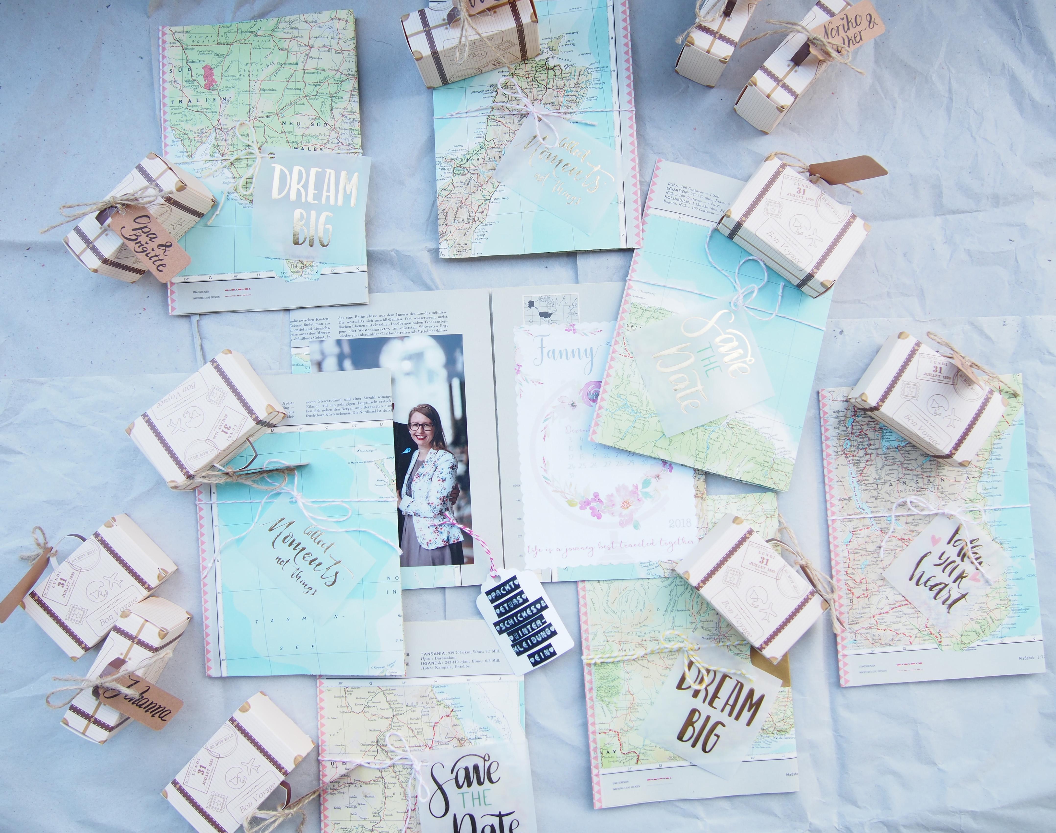 Hochzeitseinladung Diy Motto Reisen Yarn Around The World