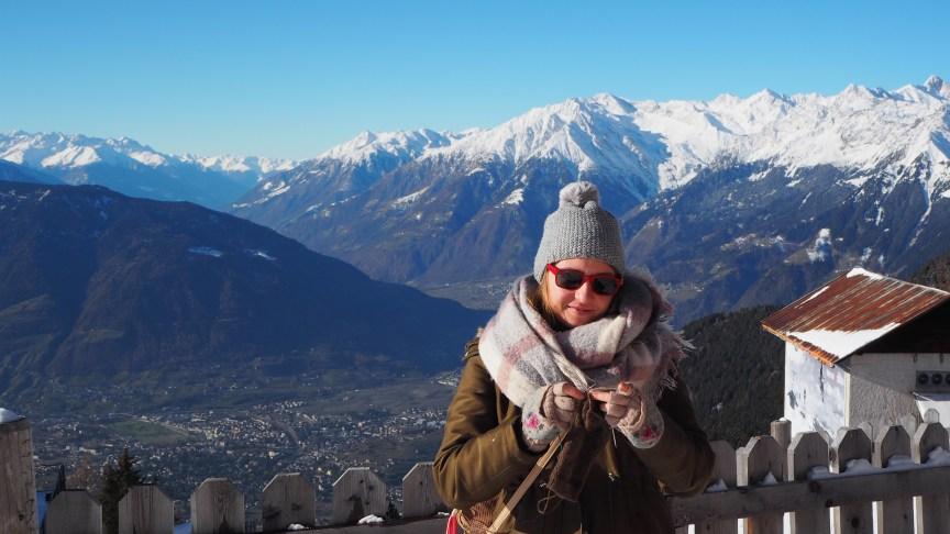 Meran, Südtirol, Berg, Ausblick, Stricken, Italien