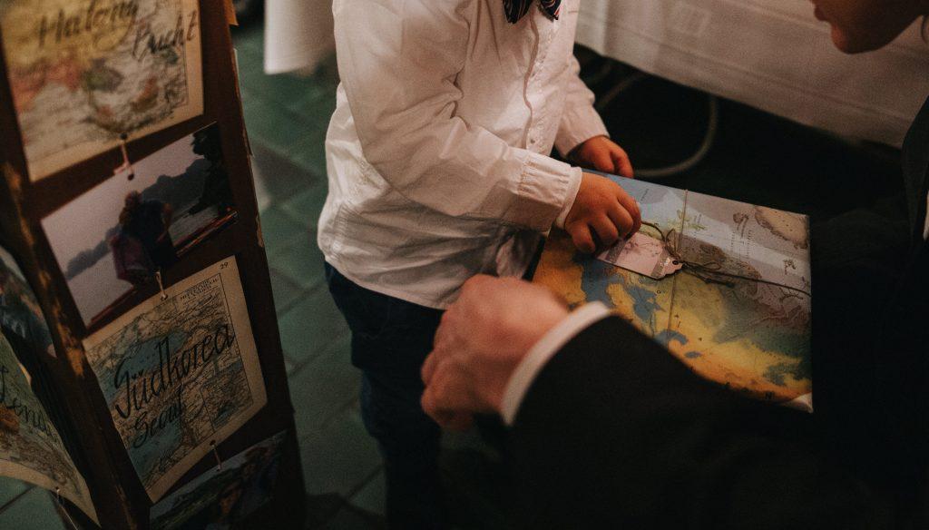 Hochzeit DIY Motto Reisen, Gastgeschenk für Kinder, Gute Nacht Geschichte