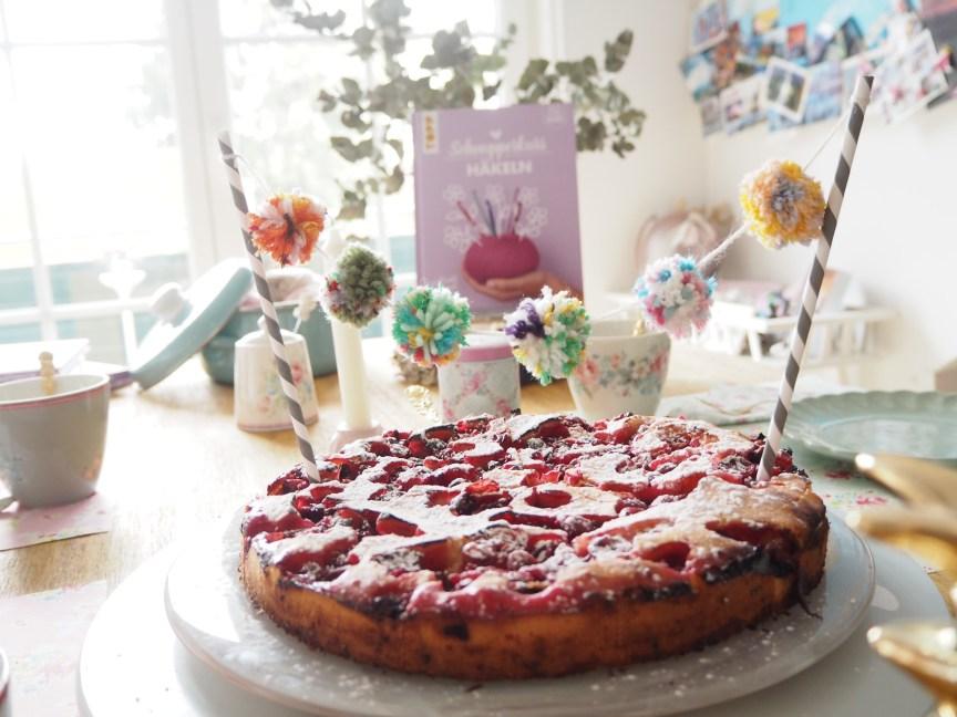 Stachelbeer Kuchen, Pompon Party, Pompoms, Pompons, Wimpelkette