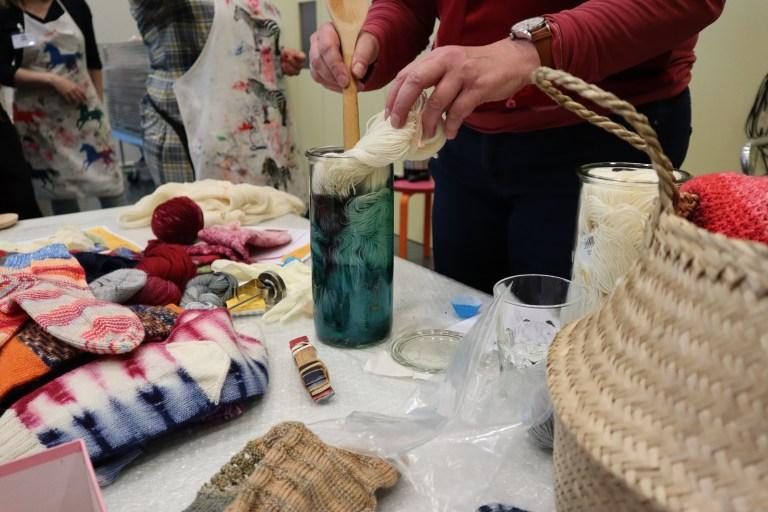Färbeworkshop, Schachenmayr, Ute Rehner, Regia Hand-Dye, Wolle färben
