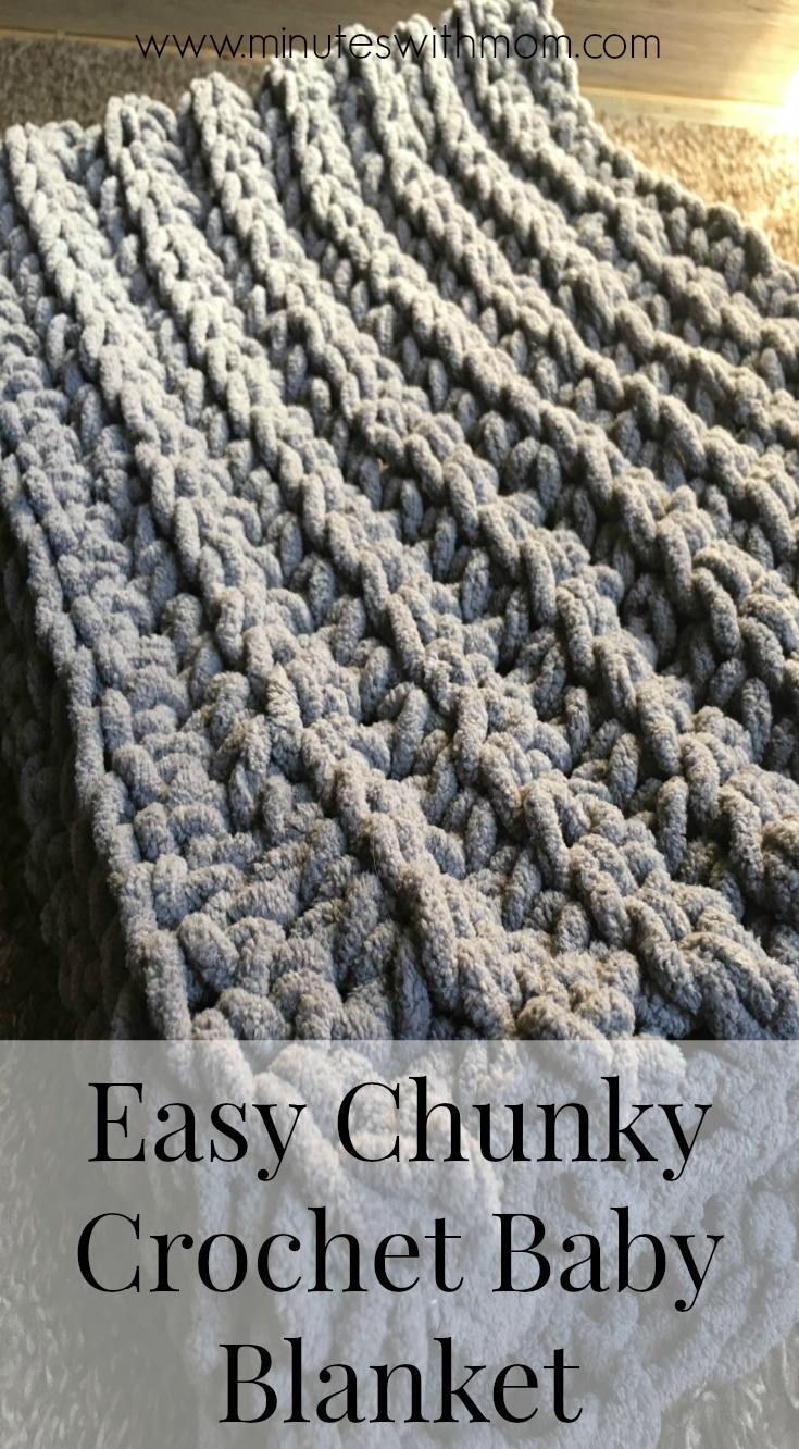 Chunky Crochet Baby Blanket With Free Pattern