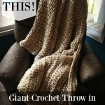 Giant Crochet Knit Stitch Blanket (with Pattern!)