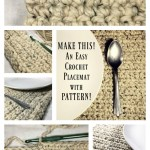 DIY Rustic Crochet Wool Placemats (with Pattern)