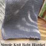 Simple Knit Baby Blanket