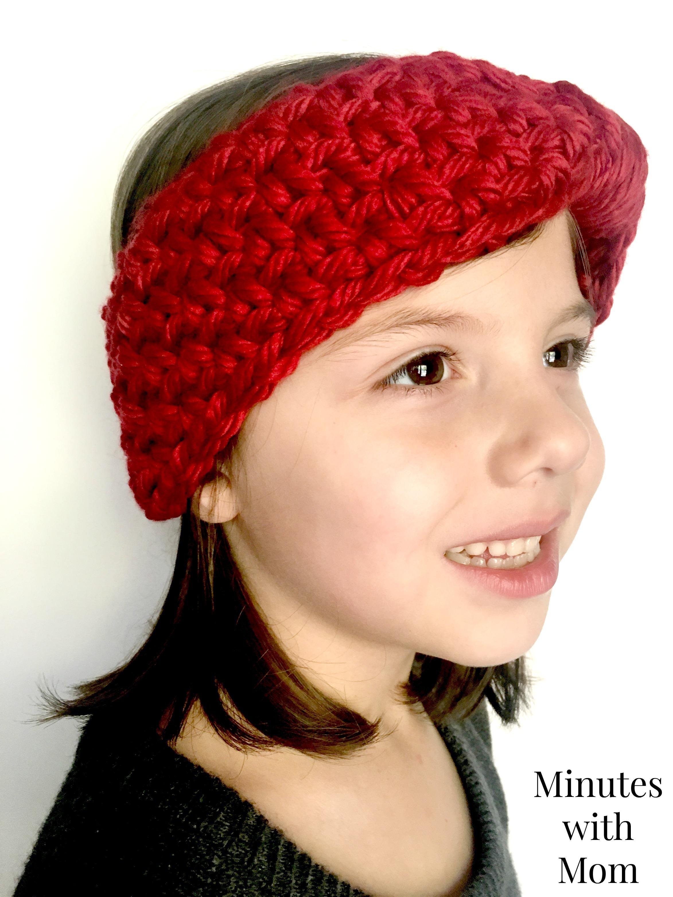 Chunky Crochet Ear Warmer With Free Pattern Yarnhookneedles