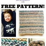 Simple Garter Stitch Blanket with FREE PATTERN!