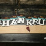 DIY Wooden 'Thankful' Sign
