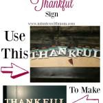DIY Wooden 'Thankful' Sign