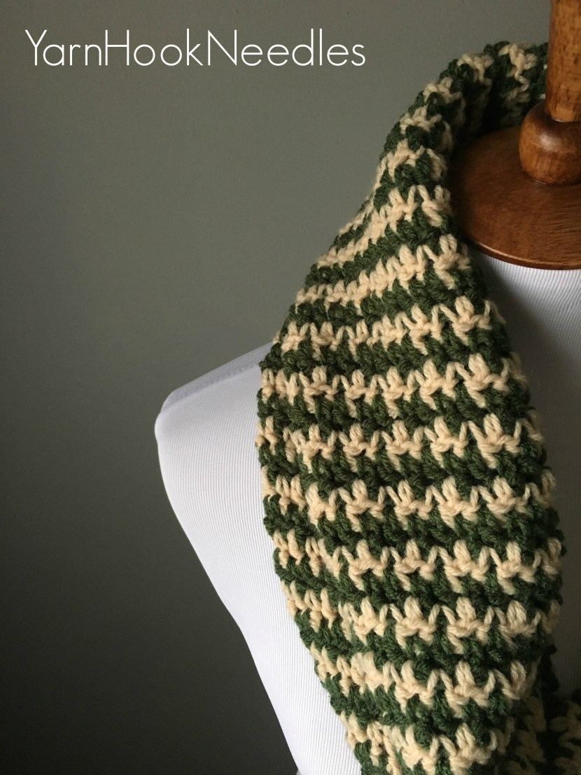 Houndstooth infinity scarf with free pattern yarnhookneedles dt1010fo